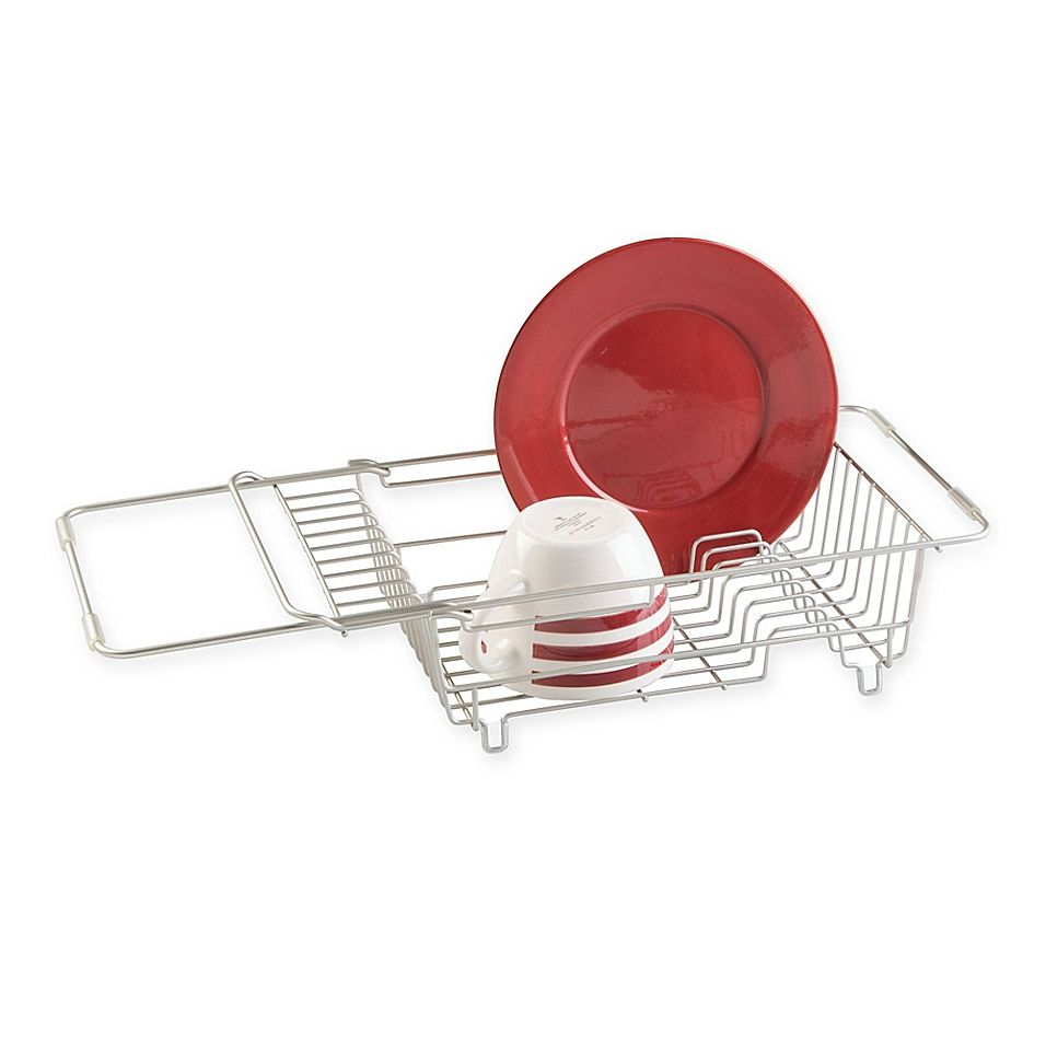 Idesign Classico Steel Over Sink Dish Drainer In Satin Sink