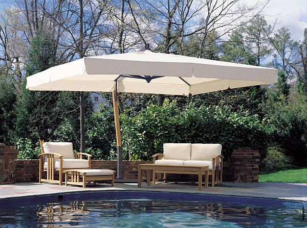 Giant 10x13ft Rectangle Sidepost Umbrella Deck Decor In