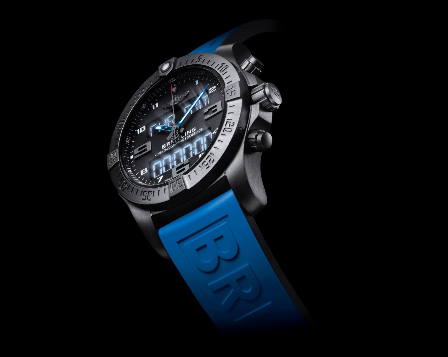 Reloj breitling exospace b55 dimetro de 46 mm con caja de titanio reloj breitling exospace b55 dimetro de 46 mm con caja de titanio negro y correa de caucho azul bretiling rafaeltorresjoyero valencia urtaz Gallery