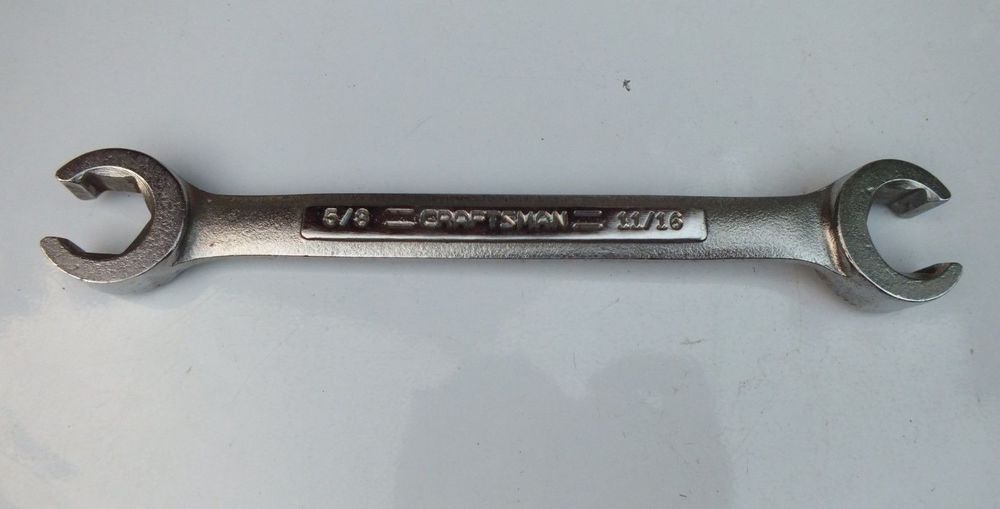 Vintage Craftsman 44173 5 8 11 16 Double Flare Nut Wrench Vv Series Usa Craftsman Vintage Craftsman Flare Nut Wrench Vintage Tools