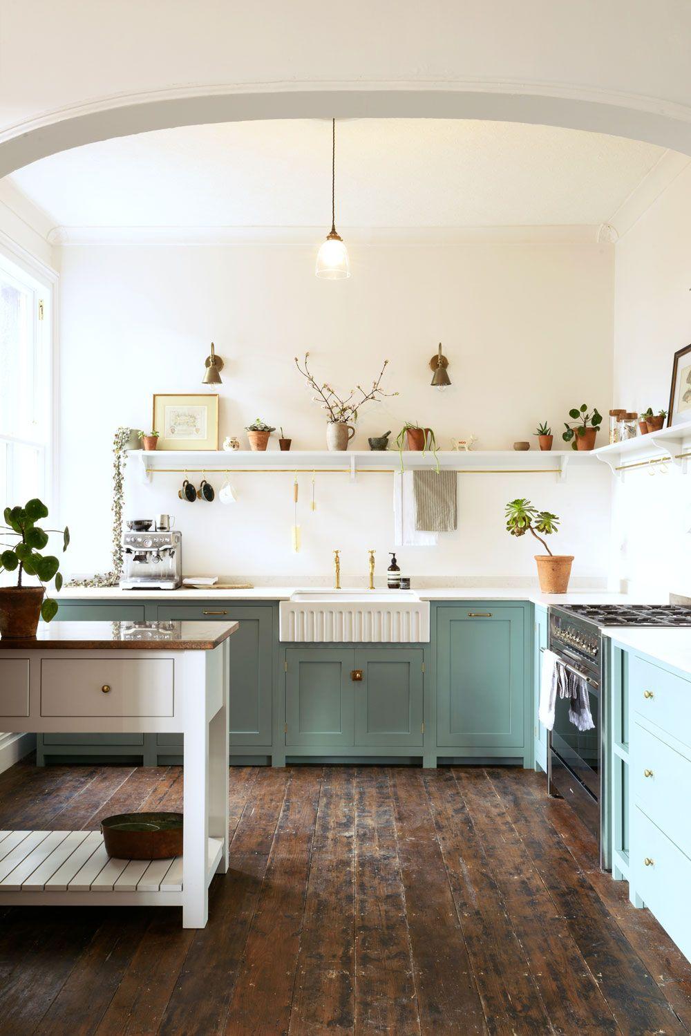 An Edwardian English Kitchen Sfgirlbybay Simple Kitchen Design Blue Shaker Kitchen Kitchen Style