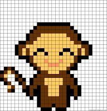 Resultat De Recherche D Images Pour Pixel Art Singe Borduren Op Kaarten Kralenpatronen Kruissteek