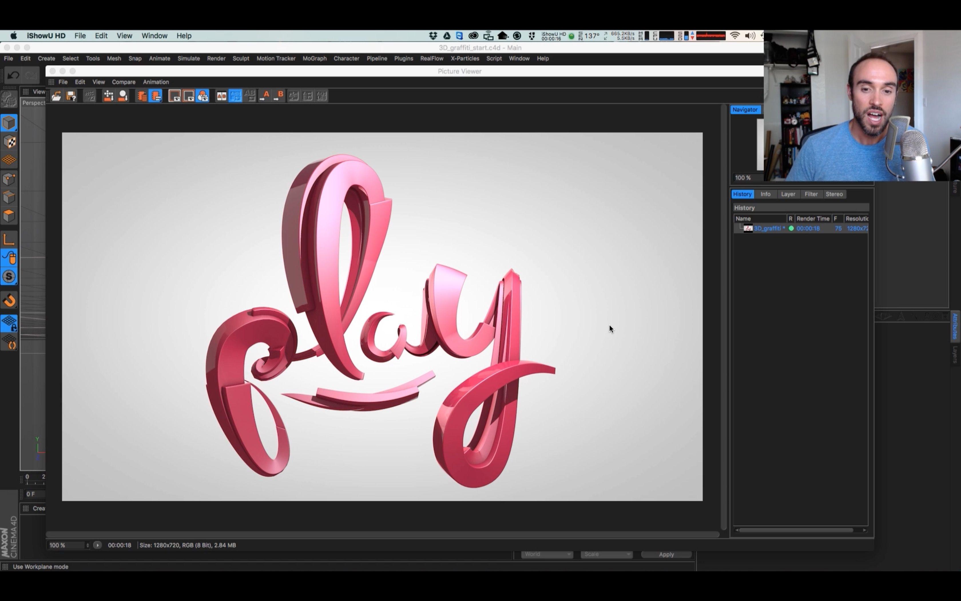 Create a Graffiti Logo in Cinema 4D Graffiti logo
