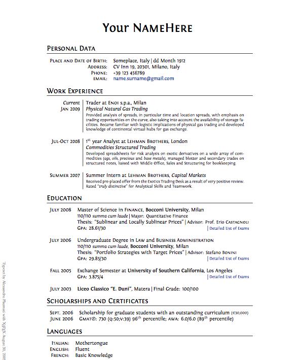 Cover Letter And Resume Builder: Inspirating CV