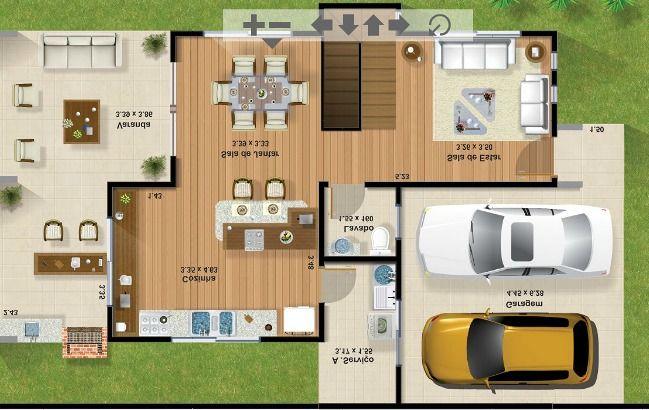 Casas modernas de 100m2 buscar con google casas - Casas con chimeneas modernas ...