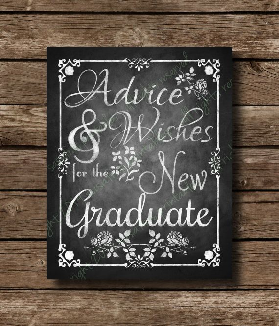 Advice & Wishes For The New Graduate, Printable Chalkboard