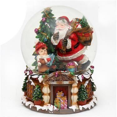 Spieluhr Weihnachten.Sigro Xxl Schneekugel Mit Spieluhr Weihnachten Christmas Navidad
