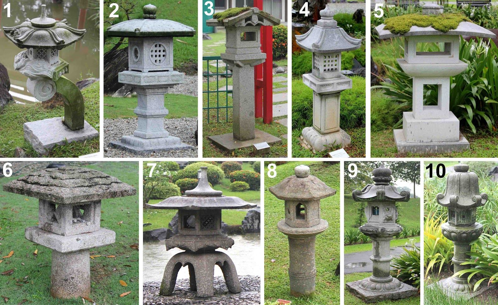 Stone Lanterns At Singapore Japanese Garden Japanese Garden