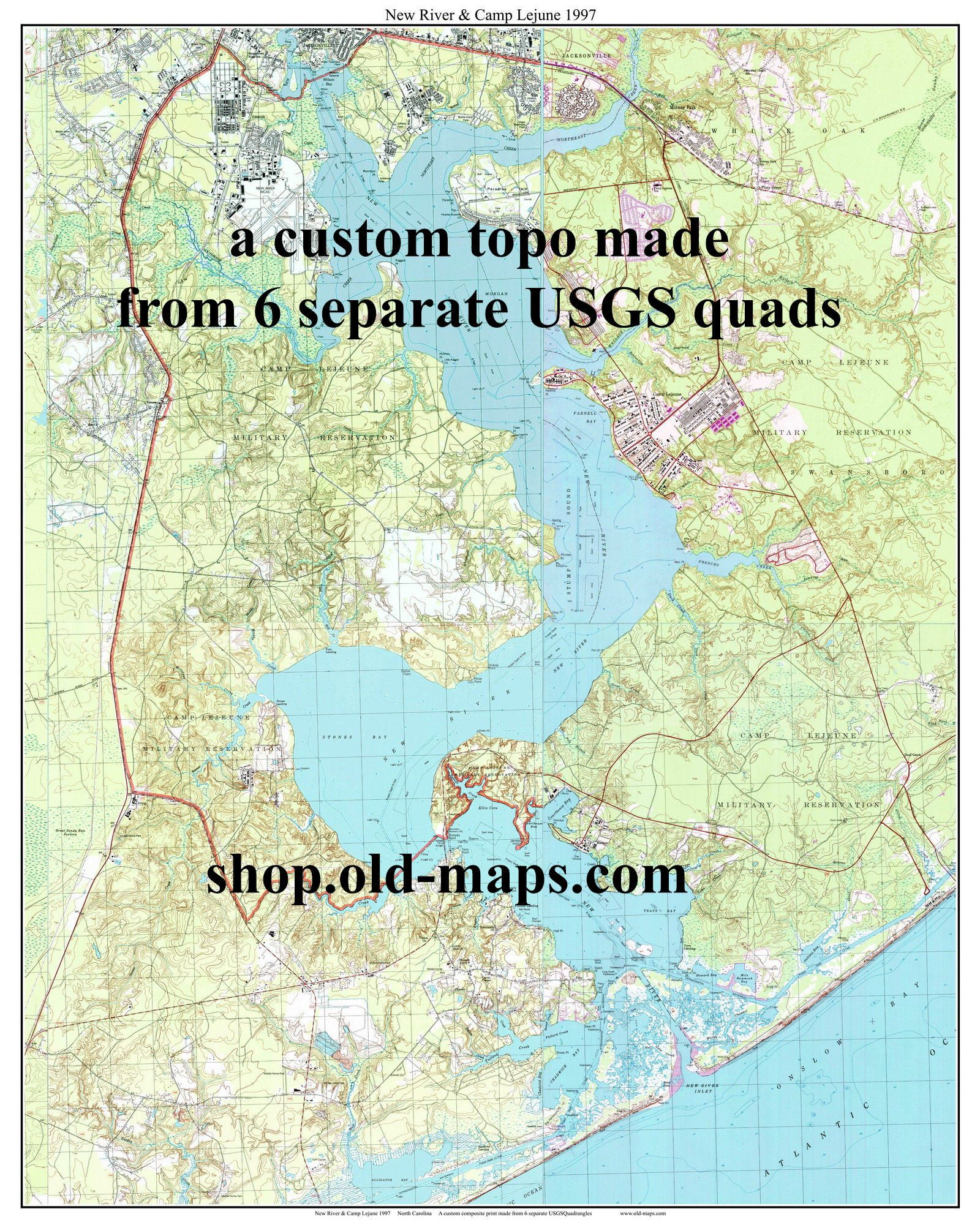 Camp Lejeune Map : lejeune, River, Lejune, Topographic, Unique, Maps,, Camp,