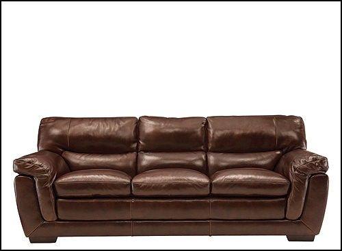 Stevens Leather Sofa Stevens Leather Sofa 44 With