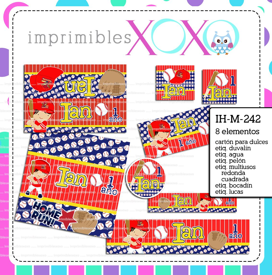 Pin by Imprimibles xoxo on DEPORTES - KIT PARA FIESTA INFANTIL ...