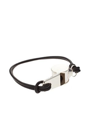 Asos Whistle Bracelet 10 91 Now 6 36 Featuring A Polished Silver Tone Charm On Double Wred Cord