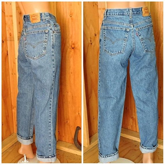dedd95d7cd3 Vintage Levis 550 28 X 30 size 6 / LEVI'S 100% cotton denim jeans / high  waisted medium wash relaxed fit Levi student jeans