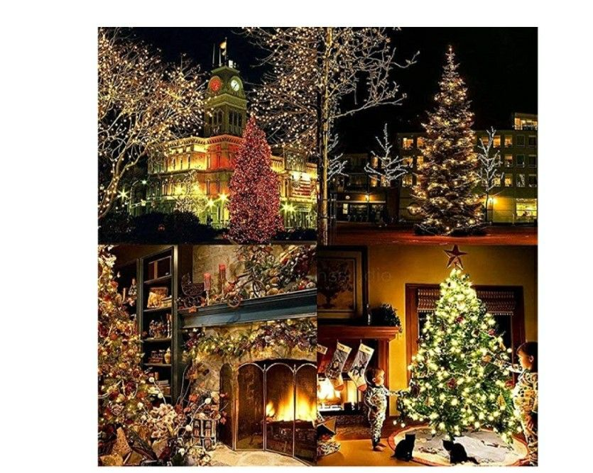 Green Christmas Tree 5ft//1.5m Collapsible Detachable Christmas Decorations Shiny Star Colorful Artificial Xmas Ornament for New Year Holiday Xmas Decorations Party Home Display Office Decor