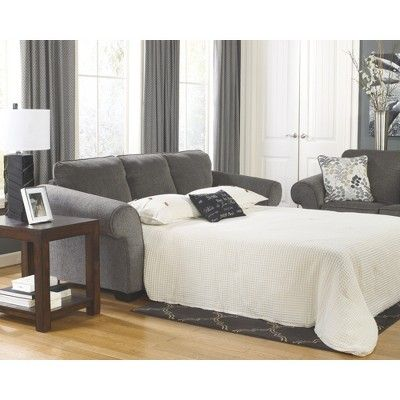 Makonnen Queen Sofa Sleeper Charcoal Signature Design By Ashley
