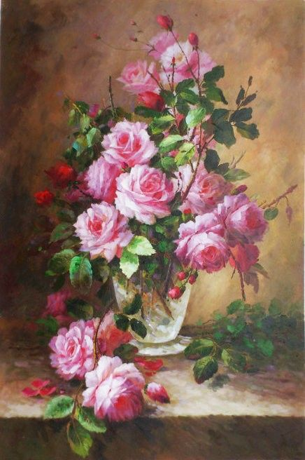 Shipping Abundant Flowers Abstract Oil Painting Canvas ...