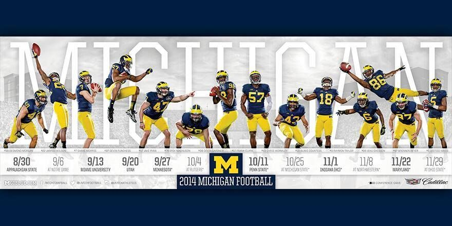 The Team 135 Michigan Football Schedule Poster Michigan