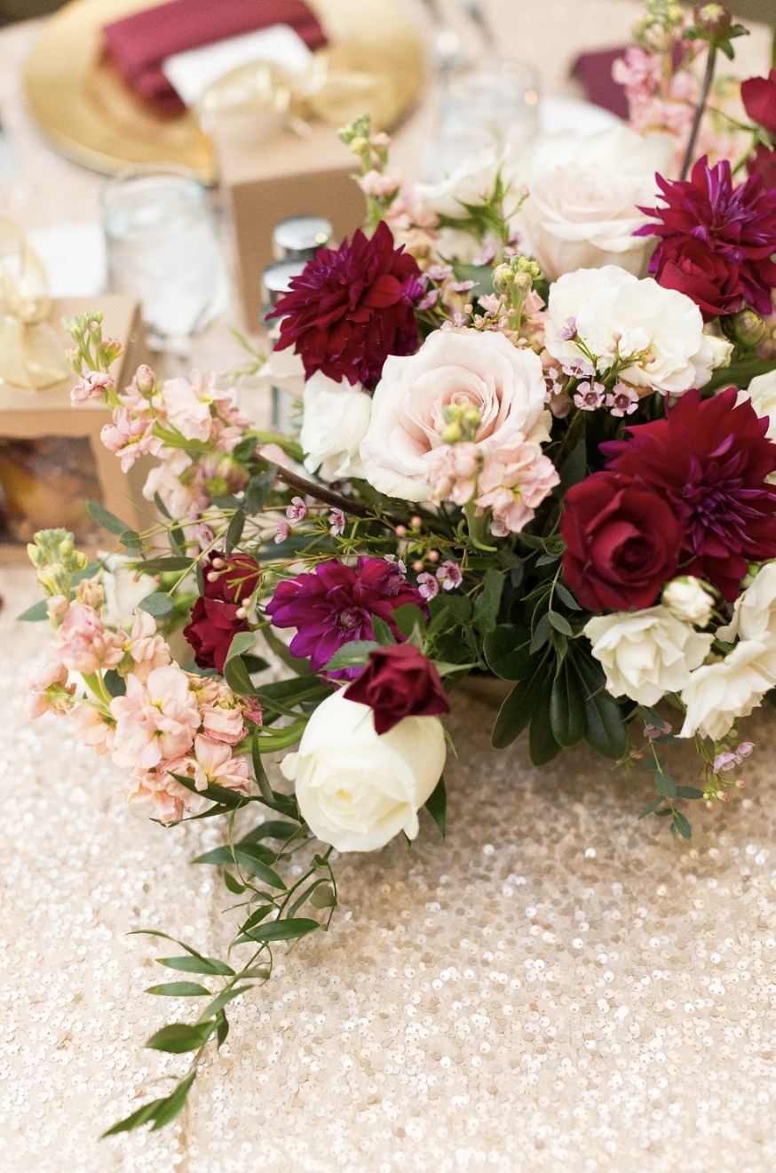 Fall Wedding Floral Details Inspiration Burgundy Ivory And