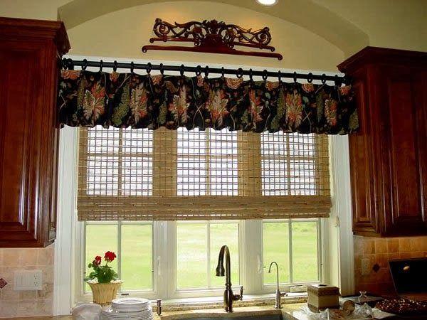 combinacion elegante cortinas cocinas diseo