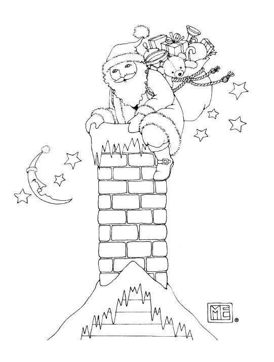 Santa What a Bag free coloring page from Mary Engelbreit! | samantha ...