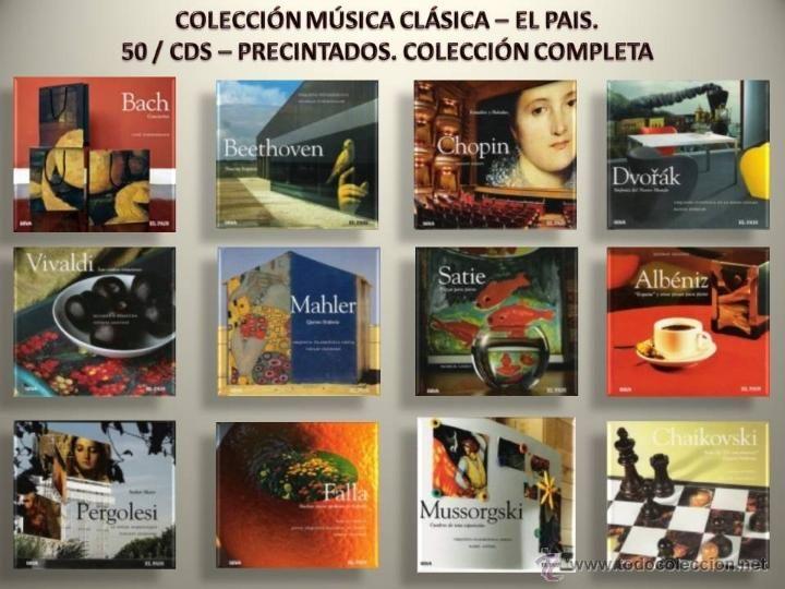 COLECCIÓN COMPLETA. MÚSICA CLÁSICA - EL PAÍS. 50 LIBRO/CD - PRECINTADOS MENOS Nº 1. CALIDAD LUJO. GRAN OCASIÓN.