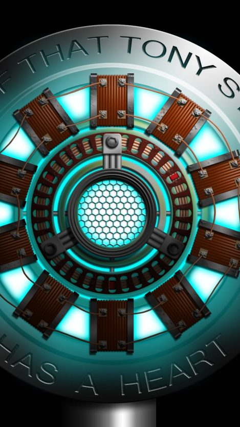 First Generation Arc Reactor Model iPhone Wallpaper Free
