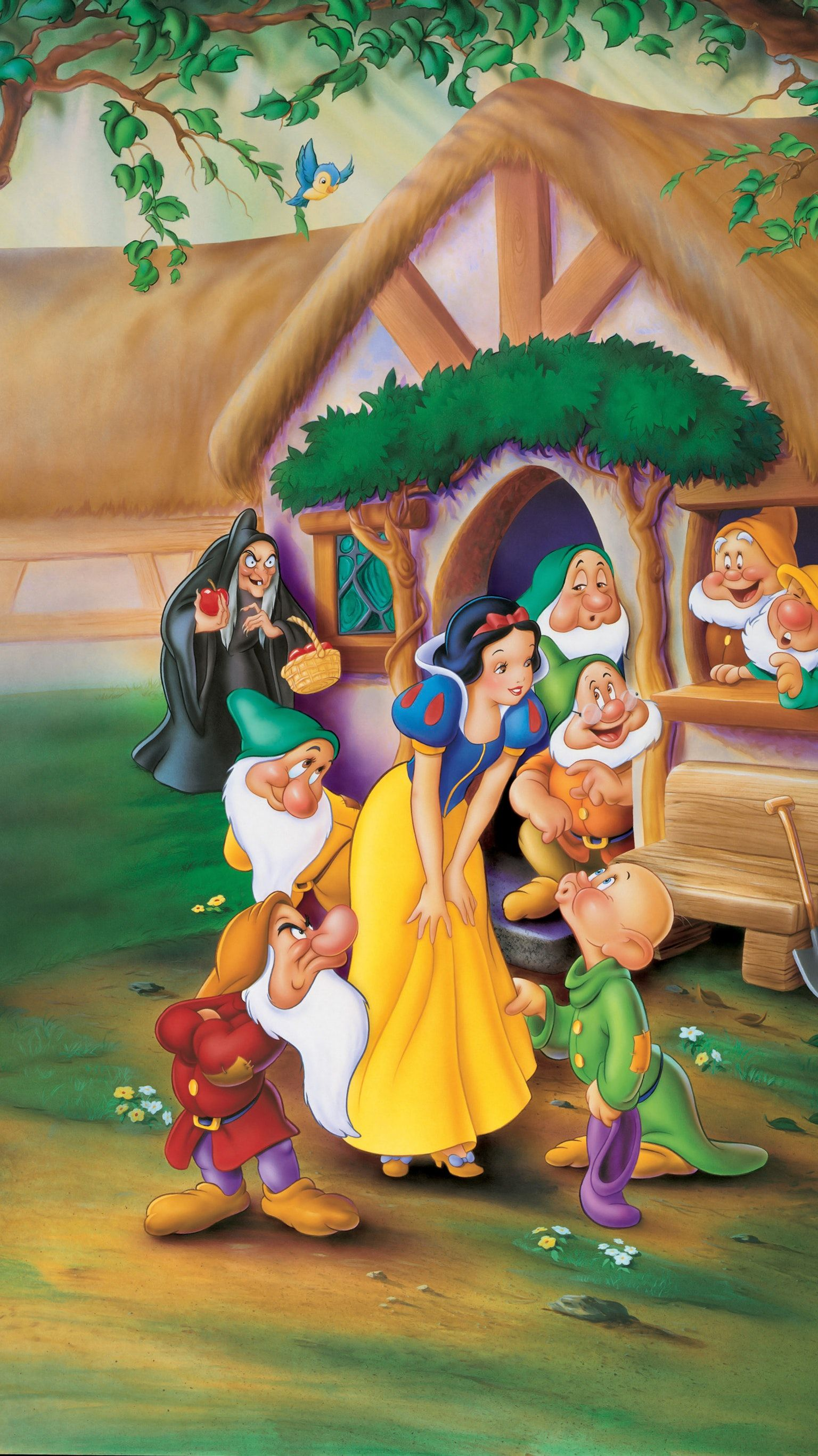 Snow White And The Seven Dwarfs 1937 Phone Wallpaper Disney