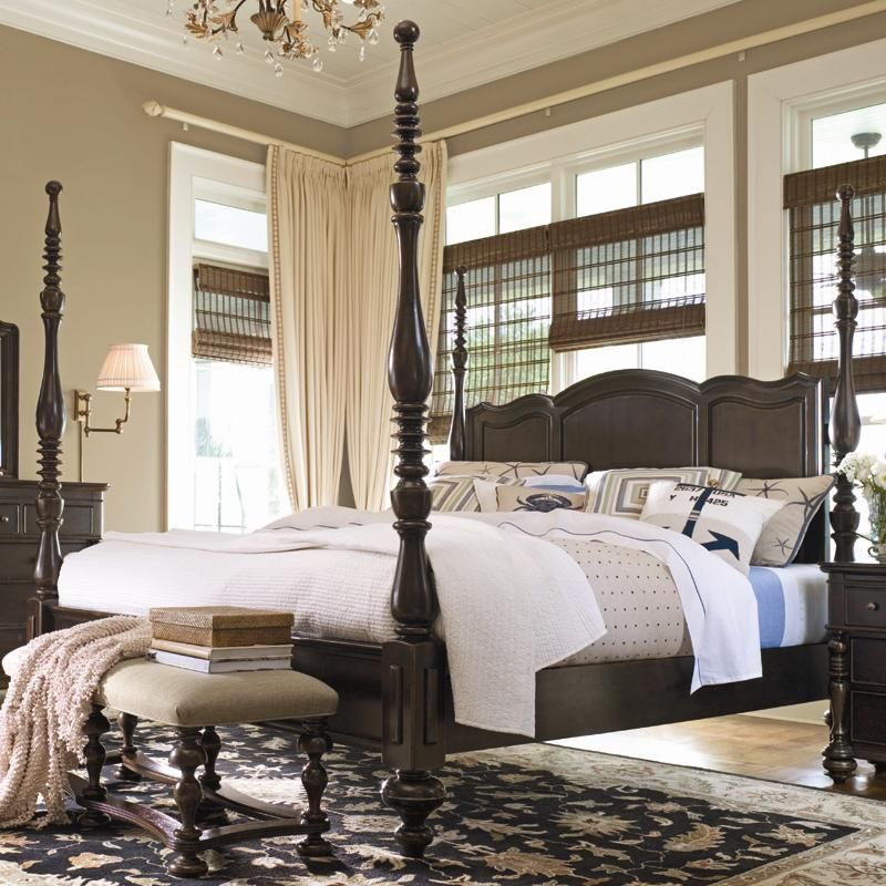 Paula Deen Home King Savannah Poster Bed with 3 Post Options by Paula Deen  by Universal