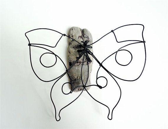 Butterfly Wire Sculpture   Art en Ferro   Pinterest   Draht ...