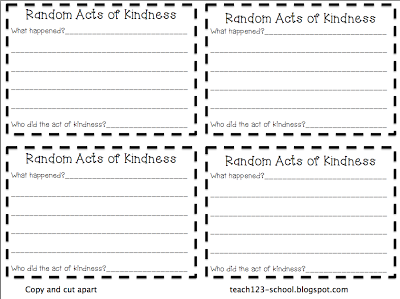 Random Acts of Kindness   Free printable