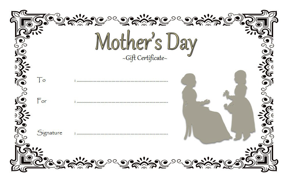 Printable Gift Certificate For Mothers Day Free 1 In 2021 Printable Gift Certificate Gift Certificate Template Free Printable Gift Certificates