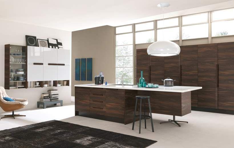 Cucine Moderne - Chantal - Noce - Febal Casa | Kitchen feel ...
