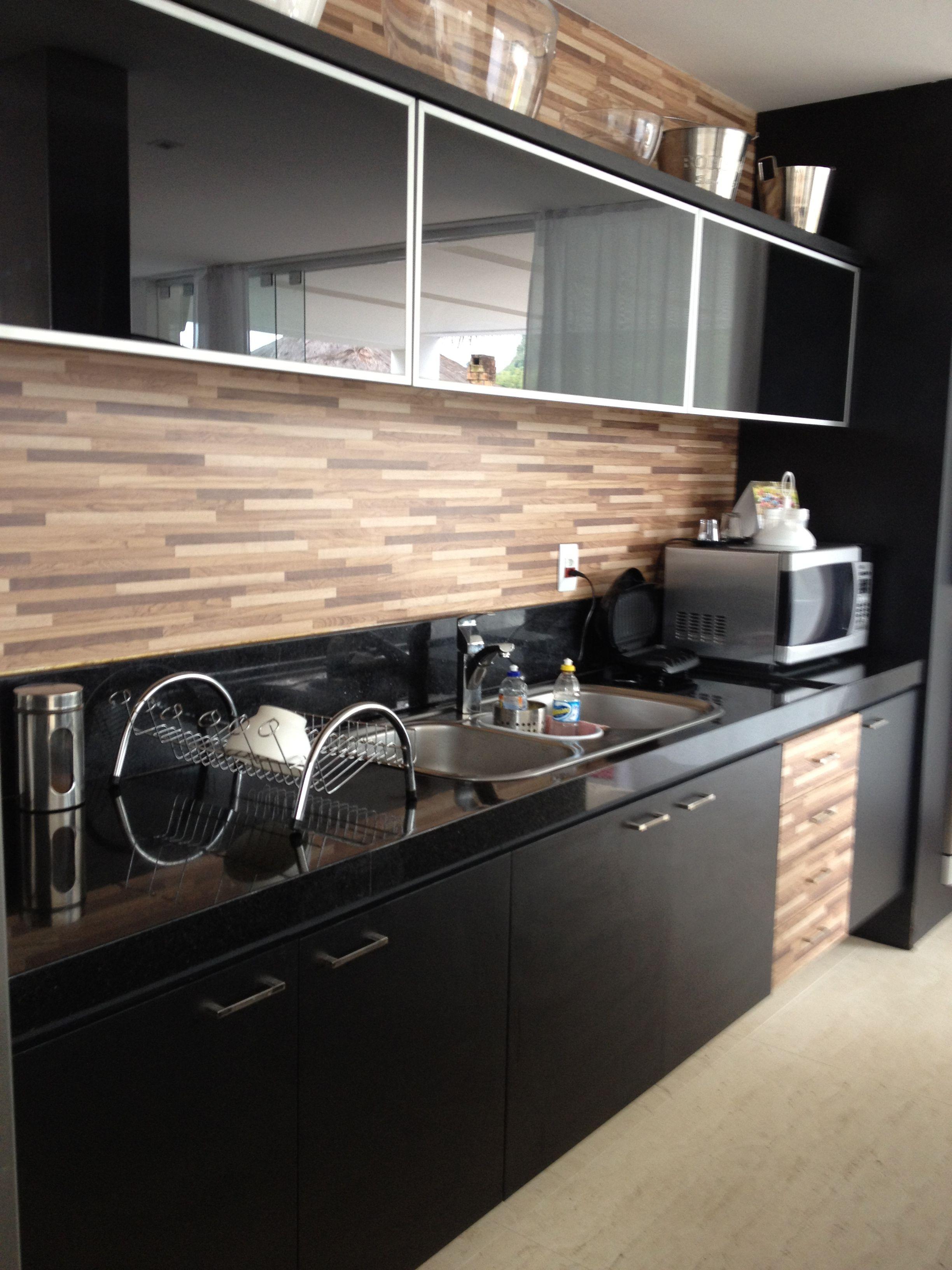 Cozinha Preta E Madeira Pesquisa Google Com Imagens Armarios