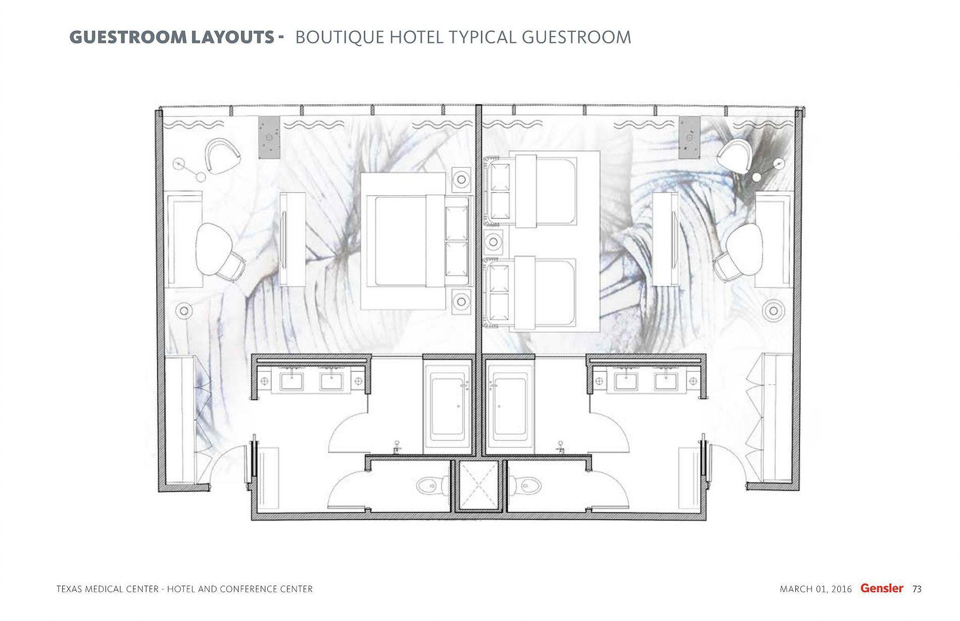 Tmc Hotel Typical Guestroom Plan Hotel House Plans Floor Plans