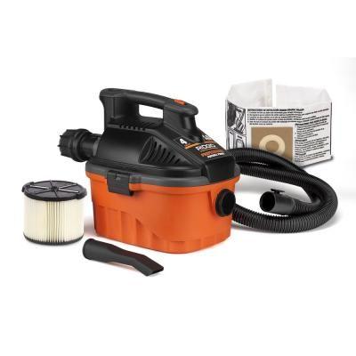 Ridgid 4 Gal 5 0 Peak Hp Portable Wet Dry Shop Vacuum With Filter Dust Bag Locking Hose And Car Nozzle Oranges Peaches Portable Vacuum Vacuums Small Vacuum