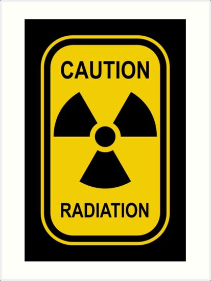 Radioactive Symbol Warning Sign Radioactivity Radiation Yellow Black Rectangular Art Print By Graphix Radioactive Symbol Signs Symbols