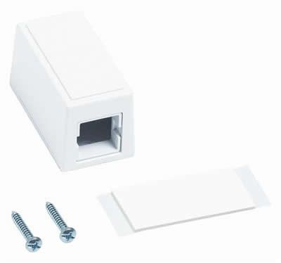 Commscope M101 Type Surface Mount Box Single Port White Surface Type Patch Cord