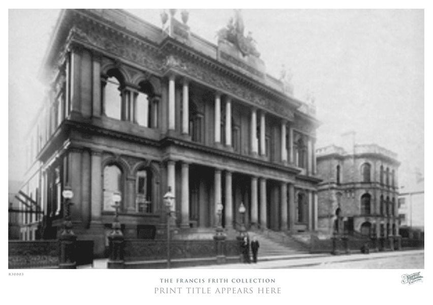Photo Print Of Belfast Ulster Bank Waring Street 1897 Belfast