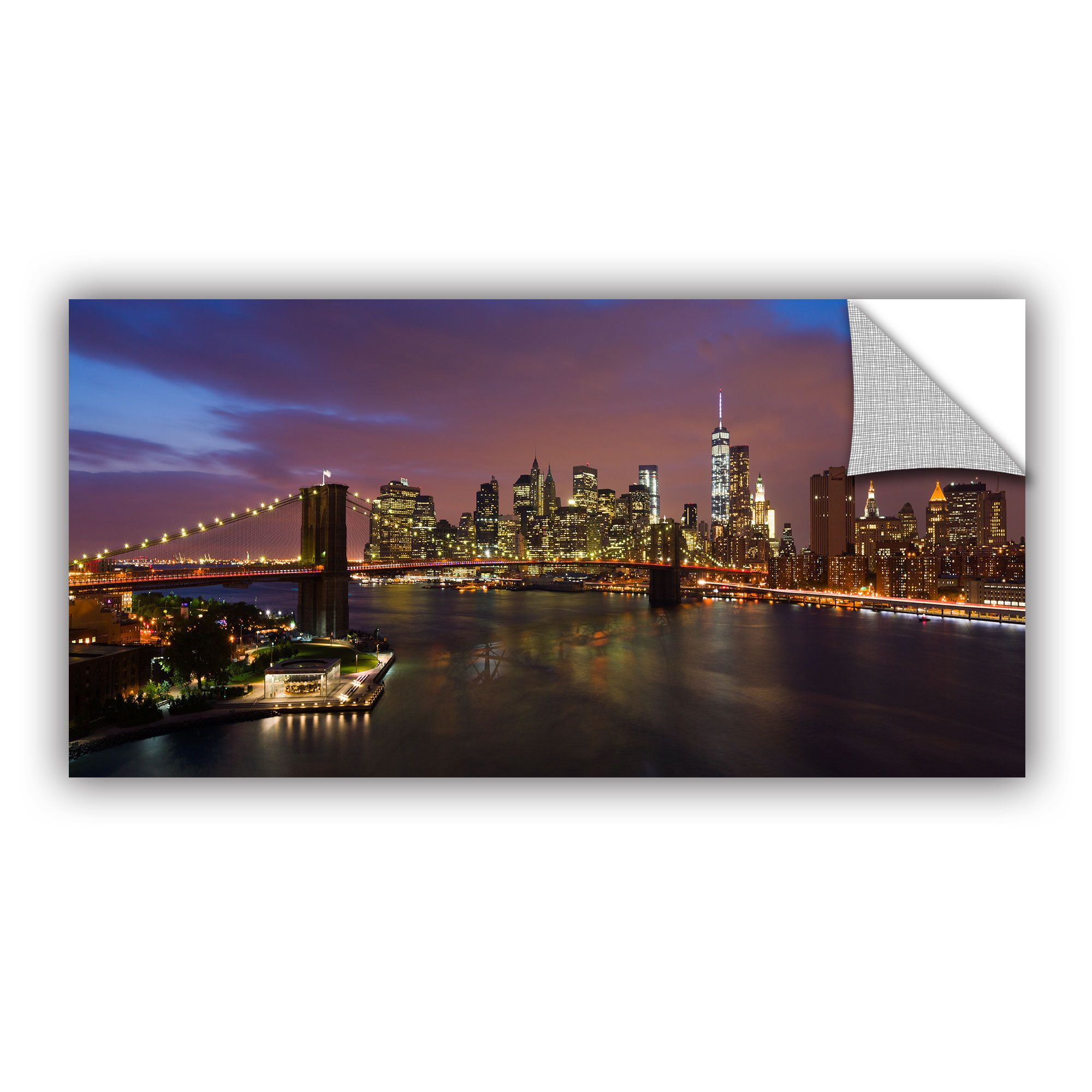 Removable wall art graphic - Artwall Cody York Nyc With Brooklyn Bridge Art Appealz Removable Wall Art By Artwall
