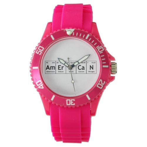 AmErICaN Science Periodic Table Words Elements Wristwatch