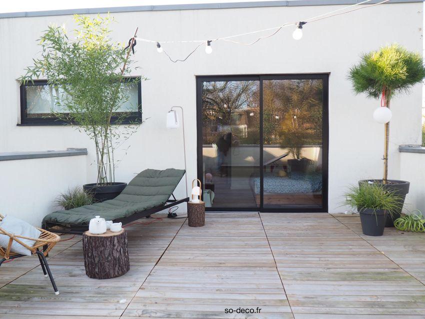 terrasse en bois et maison toit terrasse Outdoor Pinterest