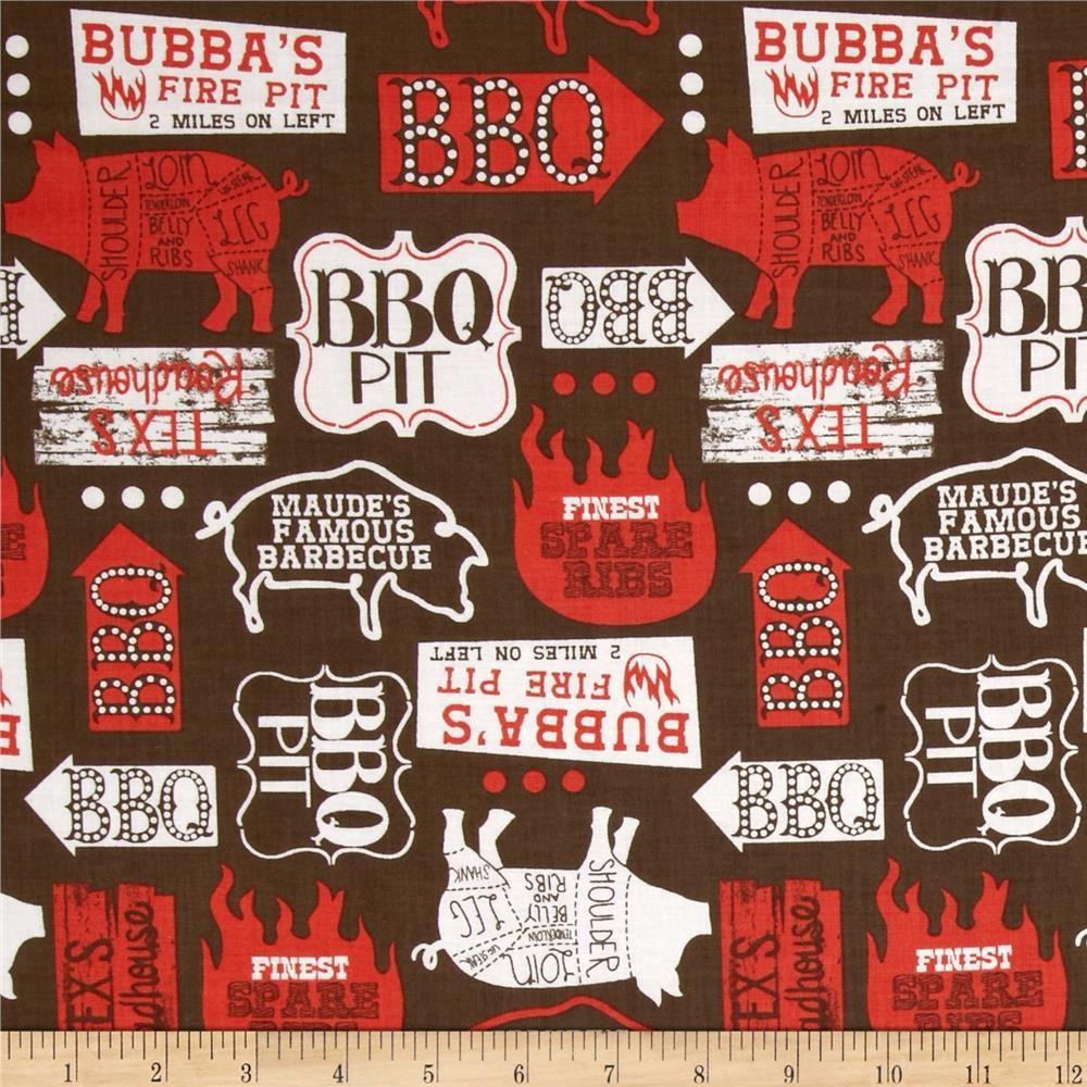 Ribs Bibs Open Pit Brown Pig Farming Bbq Cotton Quilts
