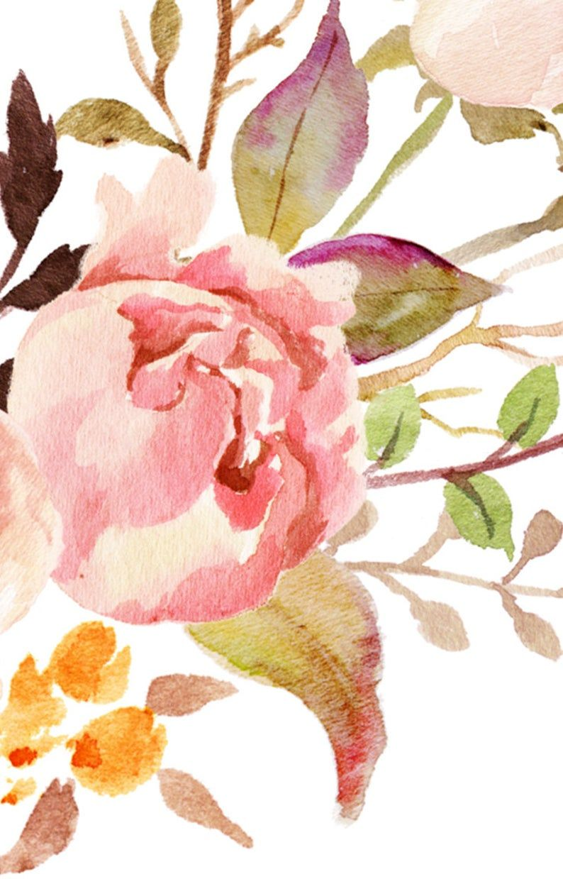 Photo of Watercolor print peonies bouquet wreath illustration watercolor painting poster wall art decor download print poster pink print digital
