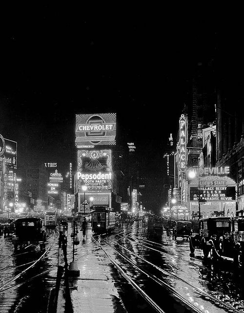 Times Square, New York City, 1932, unknown source