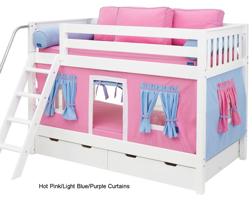 Hot Shot Girl Twin over Twin Deluxe Tent Bunk Bed - Twin over Twin Bunk Beds at Simply Bunk Beds  sc 1 st  Pinterest & Bunk Bed Curtains Pink Light Blue u0026 Purple | Annieu0027s bedroom ...