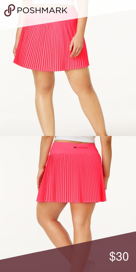 competitive price 025f6 4b71e Pink Skort Pleated Athletic Tennis Golf Skirt New Ideology Pink Skort  Pleated Athletic Tennis Golf Skirt Womens Plus Size New Pull-on styling    Built-in ...