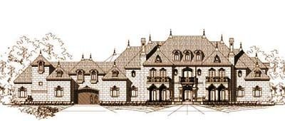 European Style House Plans   11877 Square Foot Home , 2 Story, 8 Bedroom And