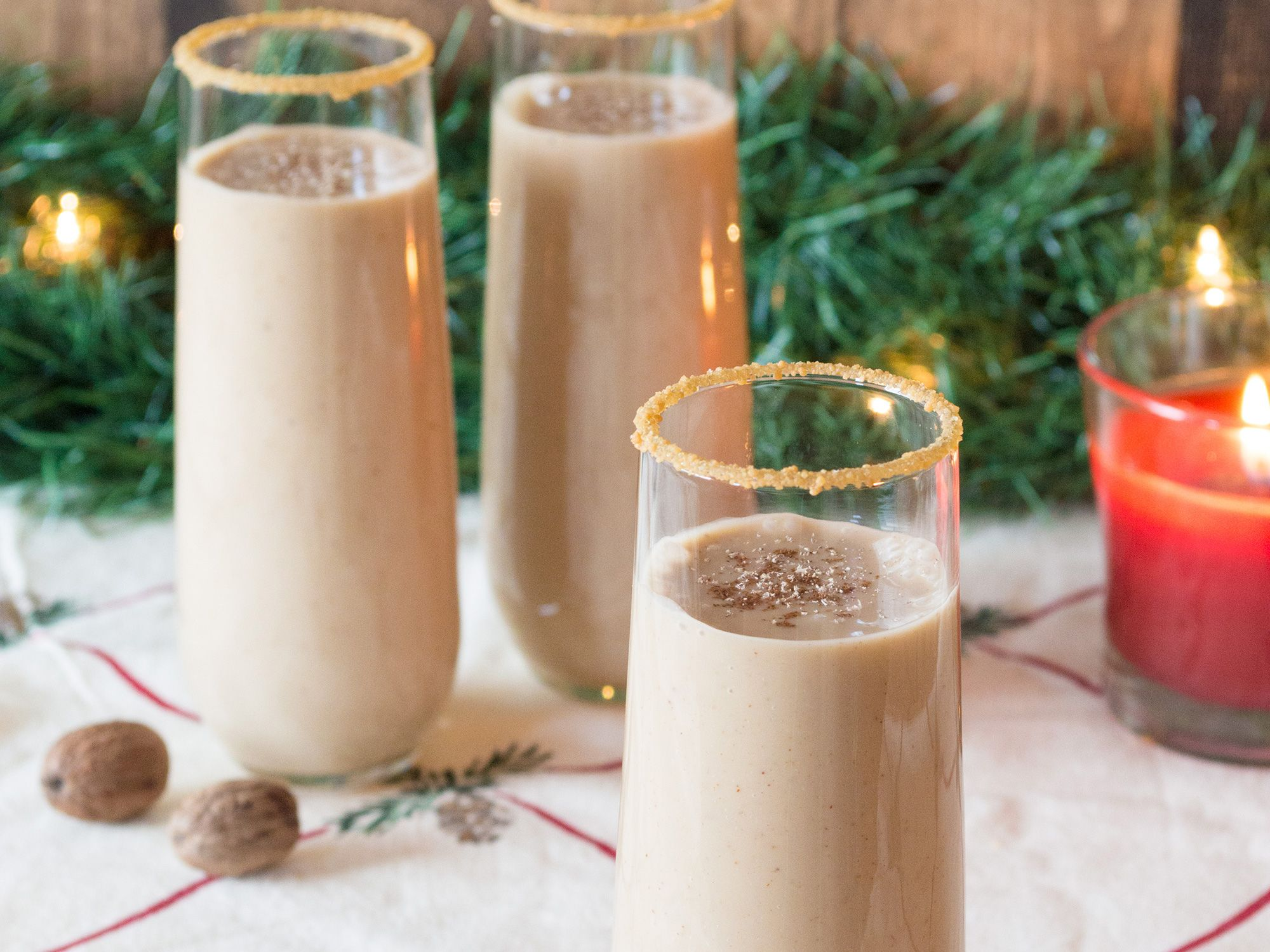 "Dairy-free eggnog can be easily made at home and without all the ""thickener"" additives found in the grocery store brands. Try it and you'll never go back."