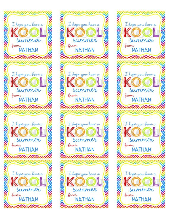 graphic regarding Have a Cool Summer Printable identified as Custom-made Do-it-yourself Printable Contain a KOOL Summer months Tags as a result of