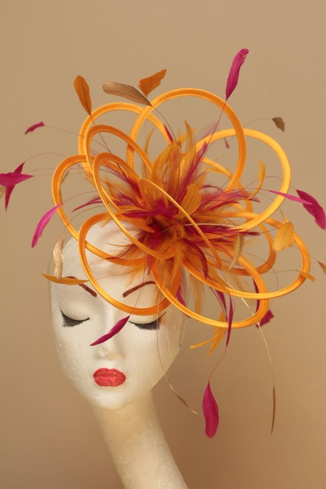 New Red Fascinate Fascinator Hat//change to any colours or add extra colours